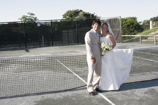 Played singles, ended up doubles: Former tennis players tie the knot after Quinnipiac