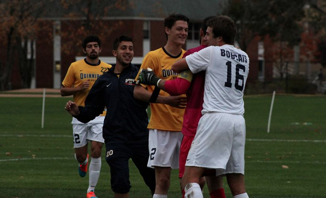 Student-athletes team up for men's soccer MAAC Semifinals tailgate