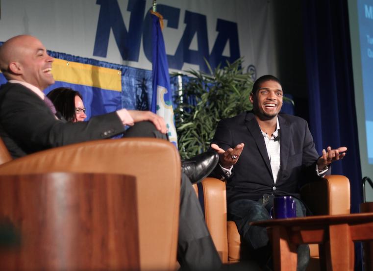 Michael Sam speaks at Quinnipiac University | Photo: Rebecca Castagna