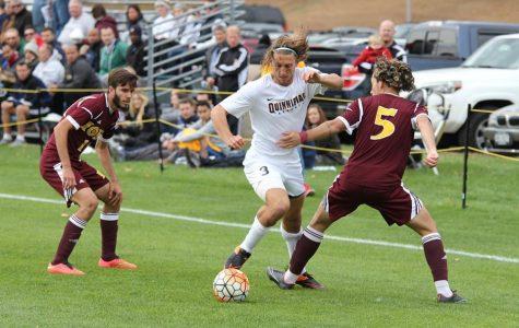 Men's soccer ties on senior day