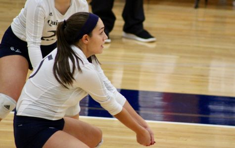 Volleyball snaps five-game losing streak with win over Manhattan, 3-1