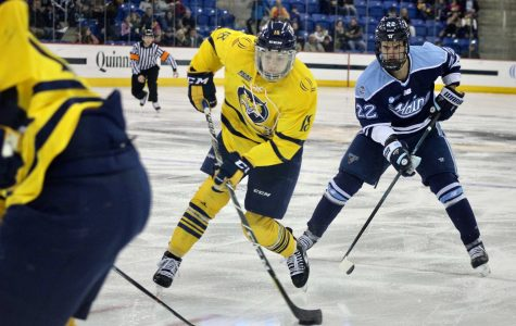 Men's hockey looks to snap winless streak against Maine Saturday night