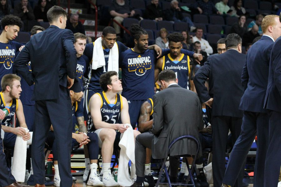 VIDEO: Quinnipiac's Baker Dunleavy and Cam Young look back after MAAC semifinal loss