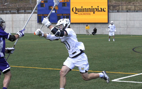 Men's lacrosse falls to Holy Cross, 14-13