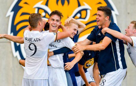 Men's Soccer Picks Up First Win of Season Against Albany, 2-1