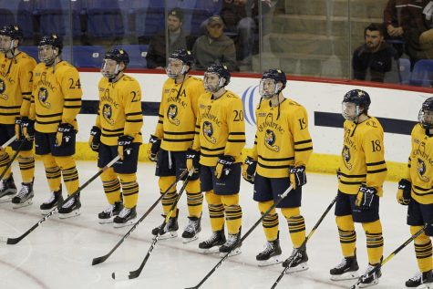 Quinnipiac Men's Hockey Plays to 4-4 Tie in Exhibition Opener