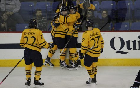 Men's Ice Hockey Downs UConn in Home Opener for Second Straight Win
