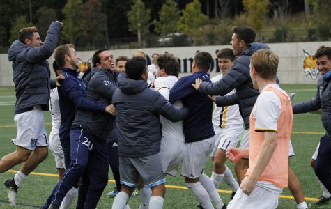Men's Soccer Completes Late Comeback to Down Rider, 2-1