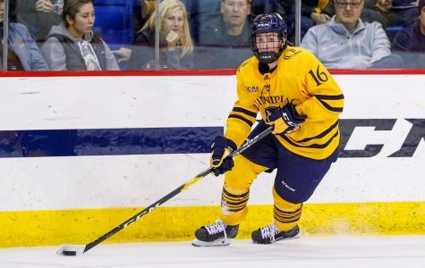 Men's Ice Hockey Rolls Over AIC, Stays Undefeated