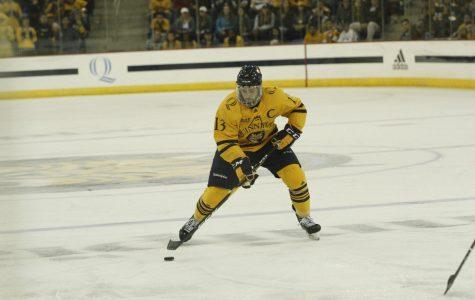 Priskie Scores Again as No. 13 Men's Hockey Downs RPI, 3-0
