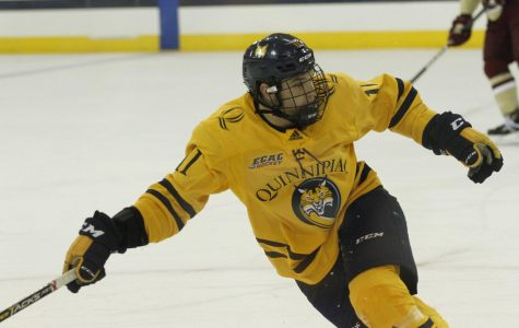Men's Ice Hockey Continues Perfect Start, Topples Harvard 5-3
