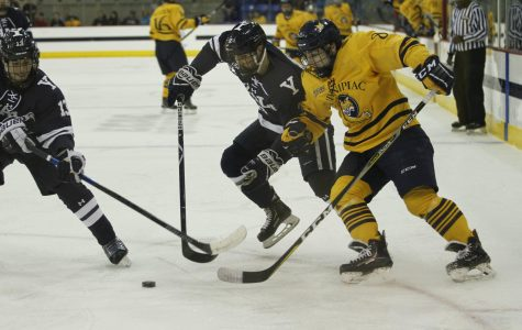 No. 5 Men's Ice Hockey Dominates from Start to Finish, Defeats St. Lawrence 7-2