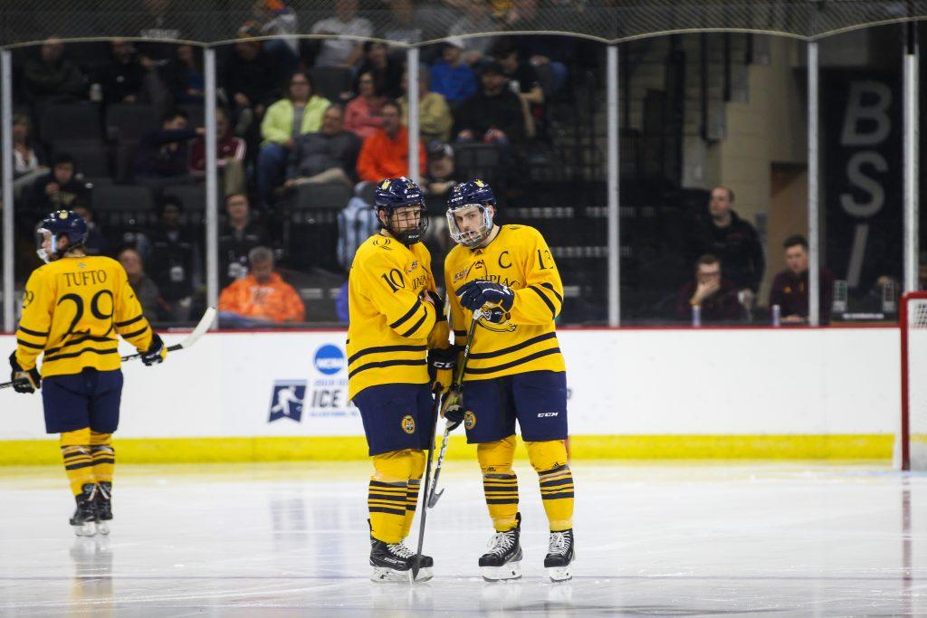 Men S Ice Hockey Falls In Regional Final To Minnesota Duluth Qbsn