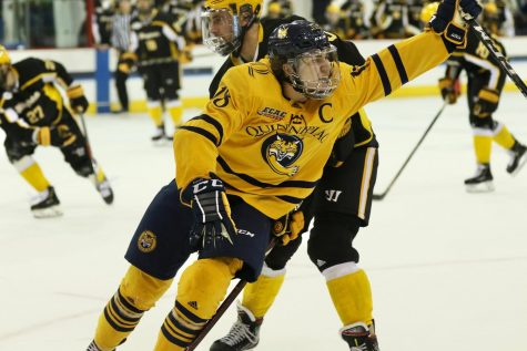 QU Men's Ice Hockey takes home opener 3-2 over AIC