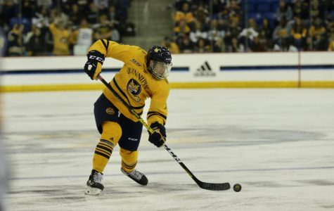 Quinnipiac Men's Ice Hockey Ride Petruzelli, Defense to 4-0 shutout of Vermont